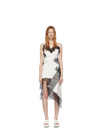 weißes und schwarzes Camisole-Kleid aus Spitze von MARQUES ALMEIDA