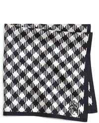weißes und schwarzes Einstecktuch mit Vichy-Muster