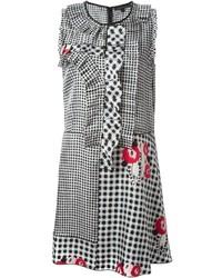 weißes und schwarzes Freizeitkleid mit Vichy-Muster von Marc Jacobs