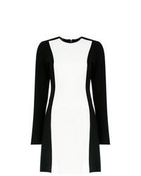 weißes und schwarzes gerade geschnittenes Kleid