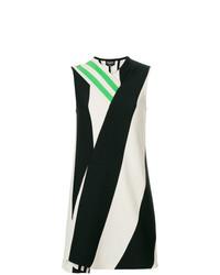weißes und schwarzes gerade geschnittenes Kleid von Calvin Klein 205W39nyc