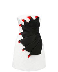 weißes und schwarzes gerade geschnittenes Kleid von Capucci