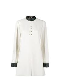 weißes und schwarzes gerade geschnittenes Kleid von Skiim