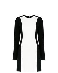 weißes und schwarzes gerade geschnittenes Kleid von Tufi Duek
