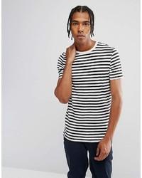 weißes und schwarzes horizontal gestreiftes T-Shirt mit einem Rundhalsausschnitt von Asos