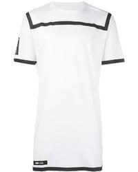 weißes und schwarzes horizontal gestreiftes T-Shirt mit einem Rundhalsausschnitt von Puma