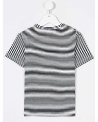 weißes und schwarzes horizontal gestreiftes T-shirt
