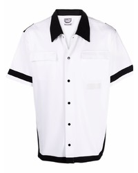 weißes und schwarzes Kurzarmhemd von Puma