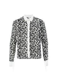weißes und schwarzes Langarmhemd mit Leopardenmuster von Takahiromiyashita The Soloist