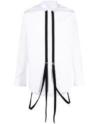 weißes und schwarzes Langarmhemd von DSQUARED2