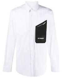 weißes und schwarzes Langarmhemd von Les Hommes