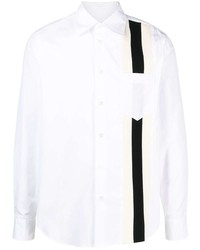 weißes und schwarzes Langarmhemd von Marni