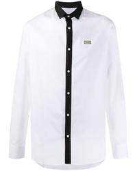 weißes und schwarzes Langarmhemd von Philipp Plein