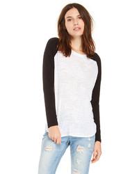Weisses und schwarzes langarmshirt original 3140115