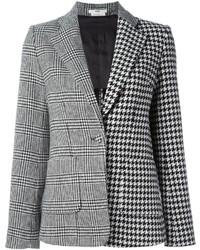 weißes und schwarzes Sakko mit Hahnentritt-Muster von Edun