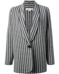 weißes und schwarzes Sakko mit Hahnentritt-Muster von Stella McCartney