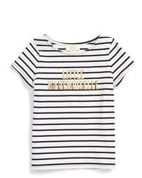 weißes und schwarzes T-shirt