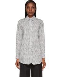 weißes und schwarzes vertikal gestreiftes Businesshemd von Rag & Bone