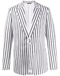 weißes und schwarzes vertikal gestreiftes Sakko von Dolce & Gabbana