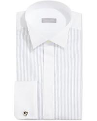 weißes vertikal gestreiftes Businesshemd