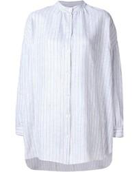 weißes vertikal gestreiftes Businesshemd von Dusan