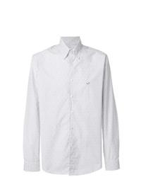 weißes vertikal gestreiftes Businesshemd von Etro