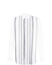 weißes vertikal gestreiftes Businesshemd von Maison Margiela