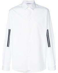 weißes vertikal gestreiftes Businesshemd von Neil Barrett