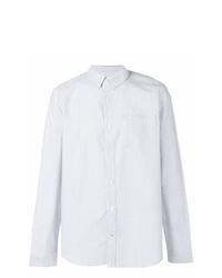 weißes vertikal gestreiftes Businesshemd von Nn07