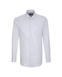 weißes vertikal gestreiftes Businesshemd von Seidensticker