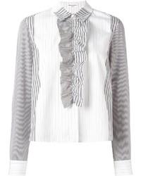 weißes vertikal gestreiftes Businesshemd von Sonia Rykiel