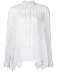 weißes vertikal gestreiftes Hemd von Stella McCartney