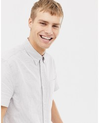 weißes vertikal gestreiftes Kurzarmhemd von J.Crew Mercantile