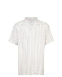 weißes vertikal gestreiftes Kurzarmhemd von Onia