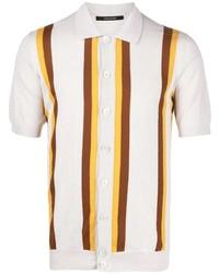 weißes vertikal gestreiftes Kurzarmhemd von Tagliatore