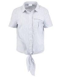 weißes vertikal gestreiftes Kurzarmhemd von Vila