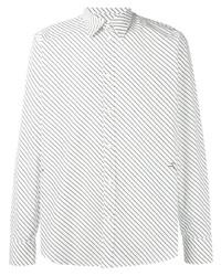 weißes vertikal gestreiftes Langarmhemd von Givenchy