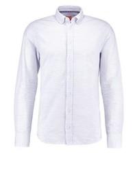 weißes vertikal gestreiftes Langarmhemd von Hugo Boss