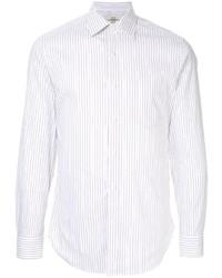 weißes vertikal gestreiftes Langarmhemd von Kent & Curwen