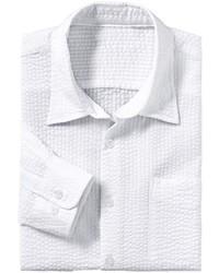 weißes vertikal gestreiftes Langarmhemd von MARCO DONATI