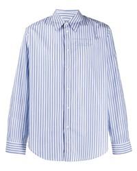 weißes vertikal gestreiftes Langarmhemd von Martine Rose