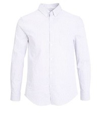 weißes vertikal gestreiftes Langarmhemd von Pier One