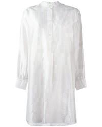 Weißes vertikal gestreiftes Shirtkleid von Dusan