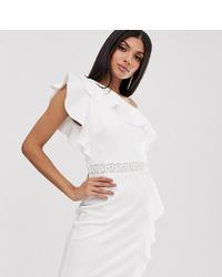 weißes verziertes Cocktailkleid von TFNC Tall