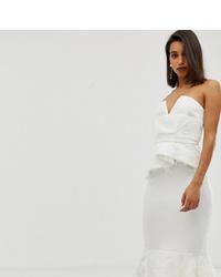weißes verziertes figurbetontes Kleid von ASOS DESIGN