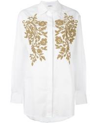 weißes verziertes Hemd von P.A.R.O.S.H.
