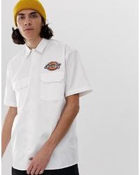 weißes verziertes Kurzarmhemd von Dickies
