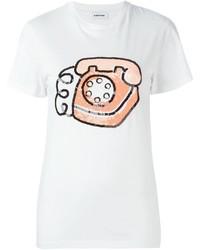 weißes verziertes T-shirt