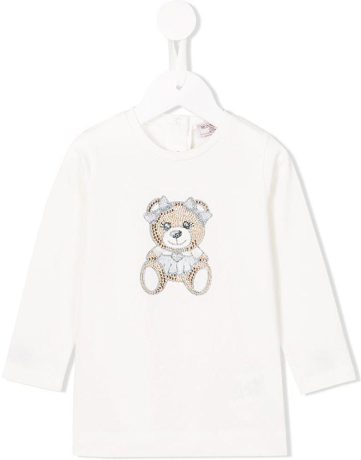 weißes verziertes T-shirt von MonnaLisa