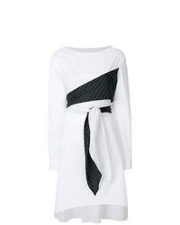weißes Wickelkleid von MM6 MAISON MARGIELA